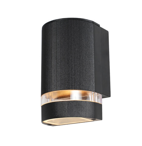 Black Aluminium Zinc Helios Outdoor Up or Down Wall Light -  IP44