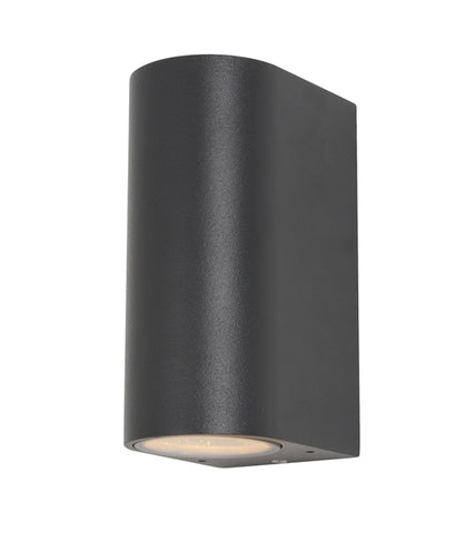 Black Aluminium Zinc Isis Outdoor Up & Down Wall Light -  IP44
