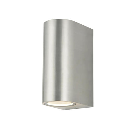 Zinc Antar GU10 Stainless Steel 2 Light Up & Down Wall Fitting 2 x 35W