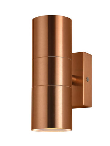 Copper Zinc Leto Outdoor Up & Down Wall Light -  IP44