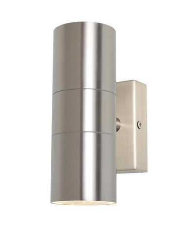 Stainless Steel Zinc Leto Outdoor Up & Down Wall Light -  IP44