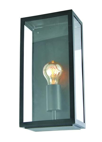 Black Zinc Minerva Outdoor E27 Box Lantern -  60W -  IP44