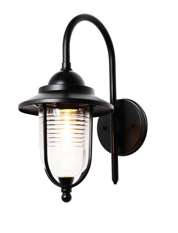 Black Diecast Aluminium Zinc Eris Outdoor Wall Light -  IP44