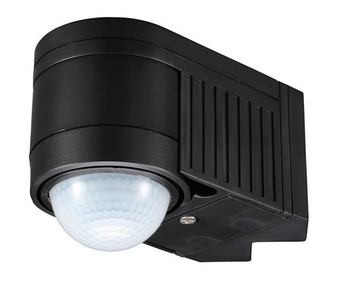 Black Zinc Leda Outdoor 360 Degree PIR Motion Sensor -  IP44