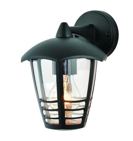 Black Zinc Perdita Outdoor E27 Aluminium 6 Sided Lantern -  60W -  IP44