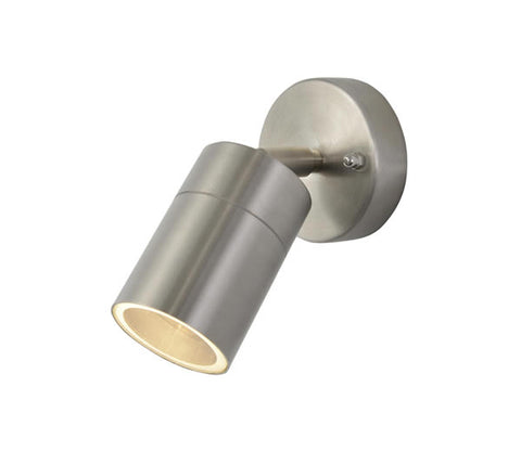 Zinc Leto Stainless Steel GU10 2 Light Adjustable Wall Fitting IP44