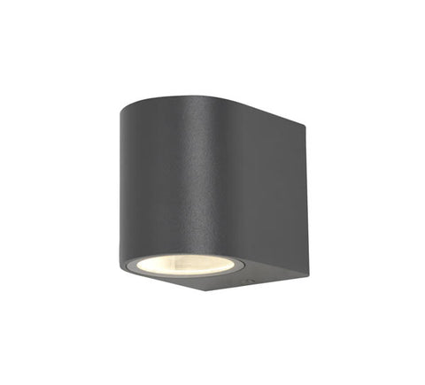 Zinc Antar GU10 Black 1 Light Up or Down Wall Fitting IP44 35W