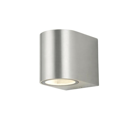 Zinc Antar GU10 Stainless Steel 1 Light Up or Down Wall Fitting 35W