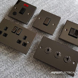 Black Nickel 10A 4 Gang 2 Way Switch - Black