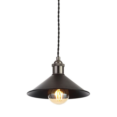 Rigel Matt Black Small Dinner Light Shade