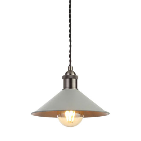Rigel Matt Grey Small Dinner Light Shade