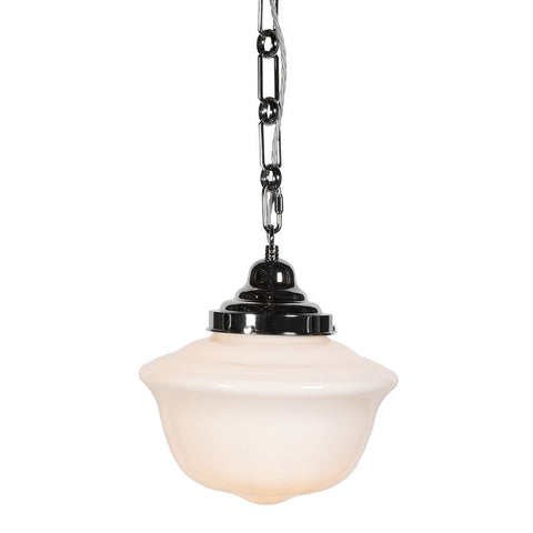 Frith Nickel Opaque Pendant Light