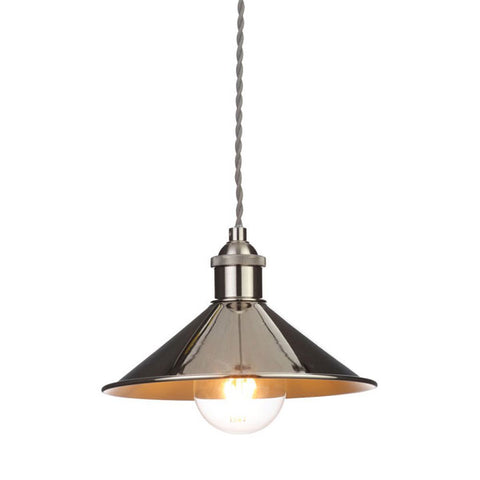 Rigel Polished Nickel Small Dinner Light Shade