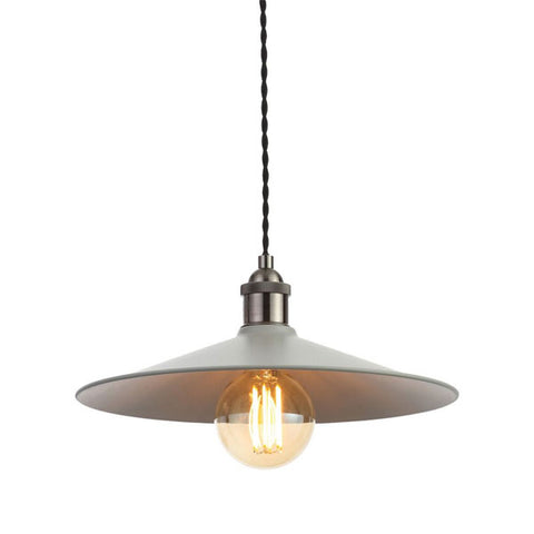 Rigel Matt Grey Large Shallow Dinner Light Shade