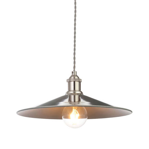 Rigel Polished Nickel Large Shallow Dinner Light Shade