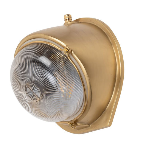 Kingly Lacquered Brass IP66 Rated Wall Light - The Outdoor & Bathroom Collection