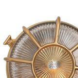 Carlisle Lacquered Brass IP66 Web Prismatic Glass Wall Light - The Outdoor & Bathroom Collection