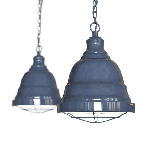 Ganton Vintage Cage Pendant Light Leaden Grey Slate