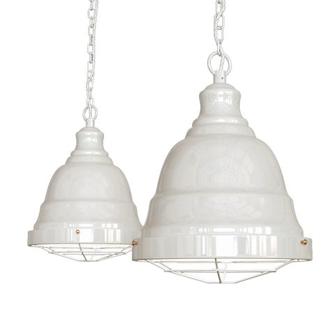 Ganton Vintage Cage Pendant Light Clay White Cream
