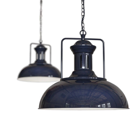 Regent Vintage Kitchen Pendant Light Squid Ink Navy Blue