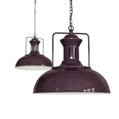 Regent Vintage Kitchen Pendant Light Mulberry Red Burgundy