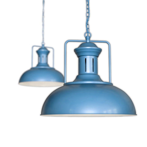 Regent Vintage Kitchen Pendant Light Aston Blue