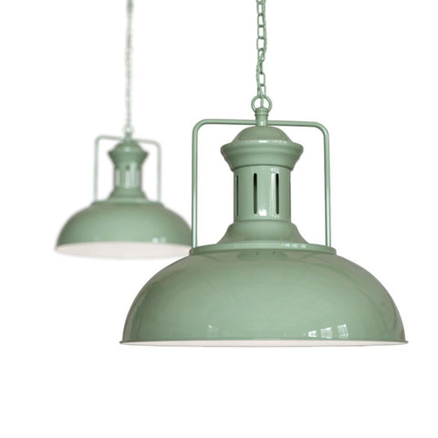Regent Vintage Kitchen Pendant Light Chalk Mint Green