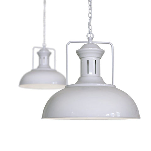 Regent Vintage Kitchen Pendant Light Pale Grey