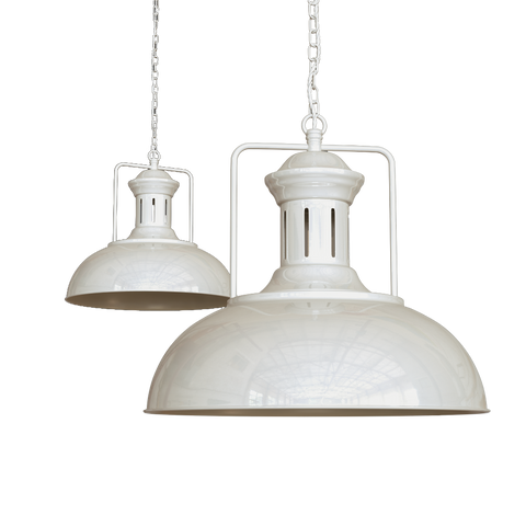 Regent Vintage Kitchen Pendant Light Clay White Cream