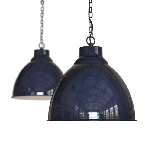 Oxford Vintage Pendant Light Squid Ink Navy Blue