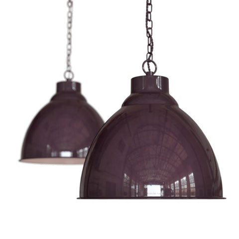 Oxford Vintage Pendant Light Mulberry Red Burgundy