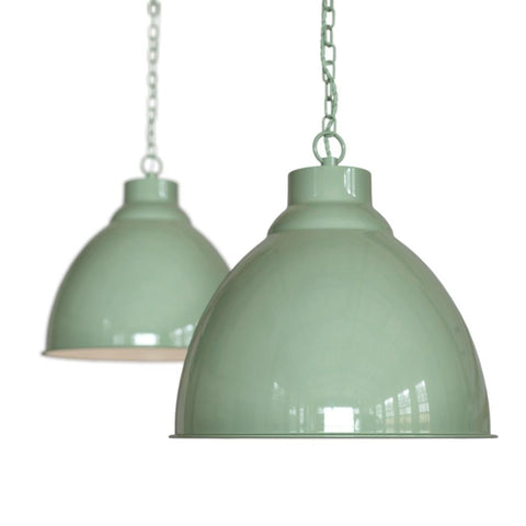 Oxford Vintage Pendant Light Chalk Mint Green