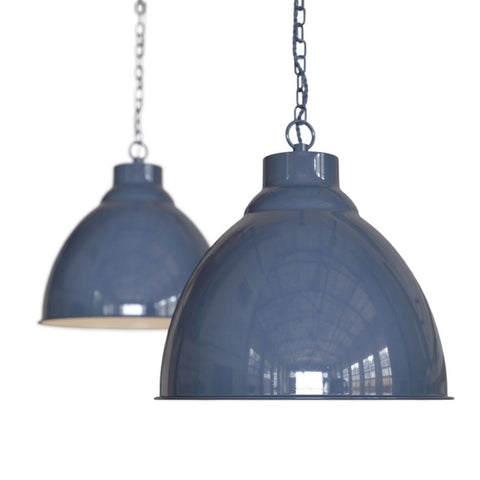 Oxford Vintage Pendant Light Leaden Grey Slate