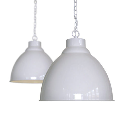 Oxford Vintage Pendant Light Pale Grey