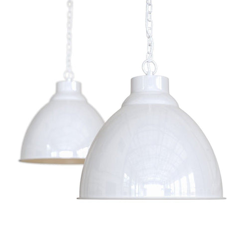 Oxford Vintage Pendant Light Pure White
