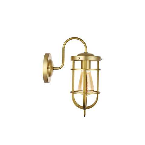 Richmond Elegant Gold Nautical Indoor Bulkhead Wall Light
