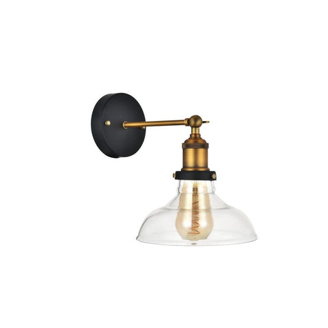 Romilly Clear Glass Step Edison Wall Light