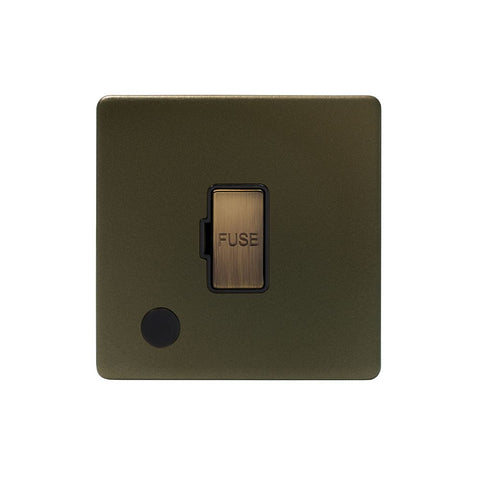 Screwless Bronze 13A Unswitched Connection Unit Flex Outlet