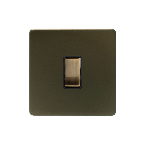 Screwless Bronze 10A 1 Gang 2 Way Light Switch