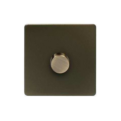 Screwless Bronze 250W 1 Gang 2 Way Trailing Dimmer Light Switch