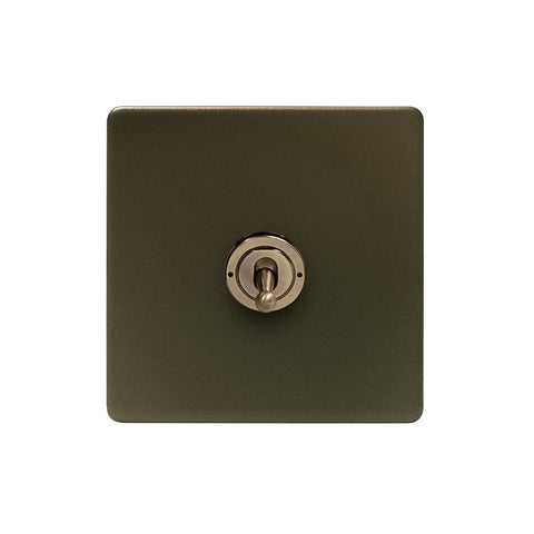 Screwless Bronze 20A 1 Gang 2 Way Toggle Light Switch
