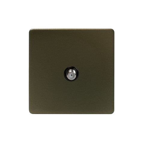 Screwless Bronze 1 Gang TV Socket