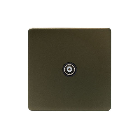 Screwless Bronze 1 Gang Satellite Socket