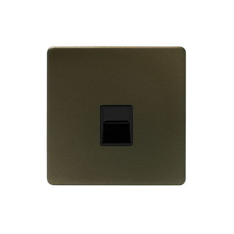 Screwless Bronze 1 Gang Telephone Secondary Socket-BT