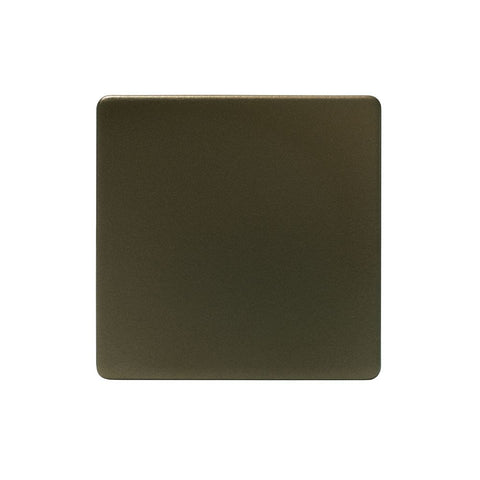 Screwless Bronze 1 Gang Blanking Plate