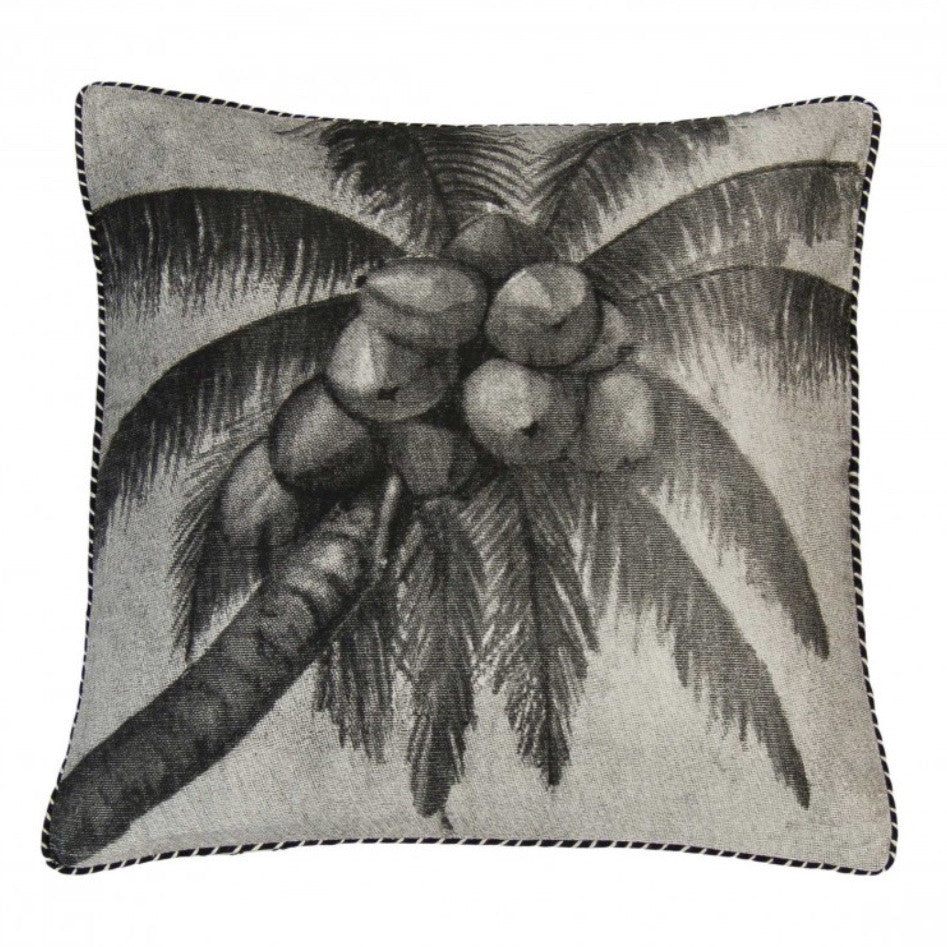 Black Pacific Coconuts Cushion