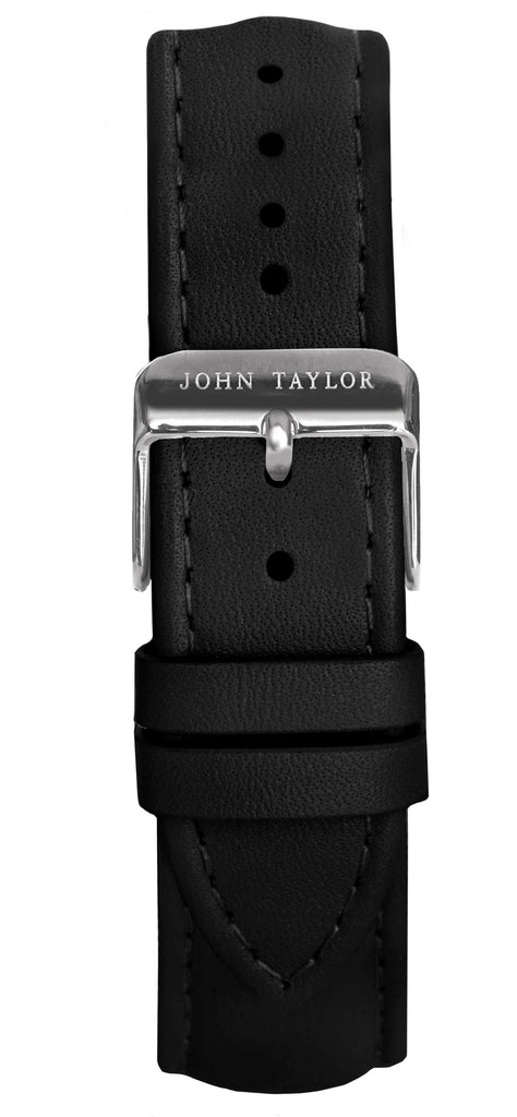 Black & Silver Stitched - John Taylor Watches