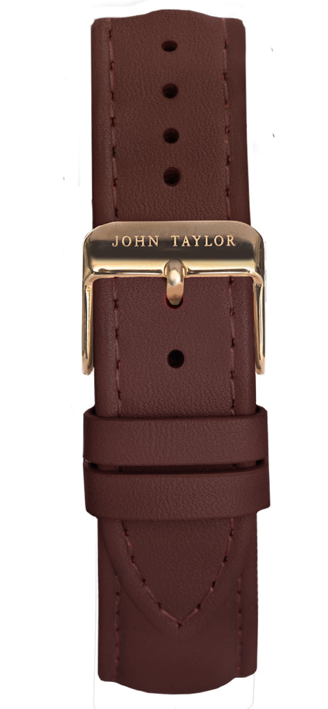 Brown & Gold Stitched - John Taylor Watches