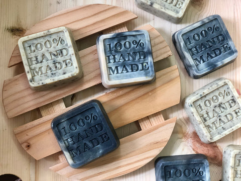 Lemon-Pepper and Charcoal-Orange Soap