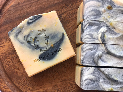 Charcoal and Orange Soap